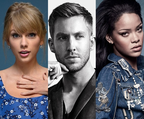 Calvin Harris felicitó a Rihanna y Taylor Swift por la ventas de 'This Is What You Came For'