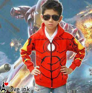 Jaket Anak Iron Man - Harga Saudara