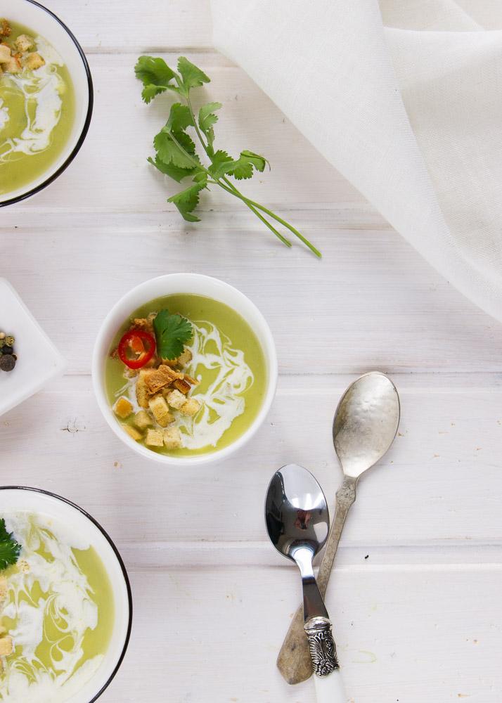 Sopa de cilantro