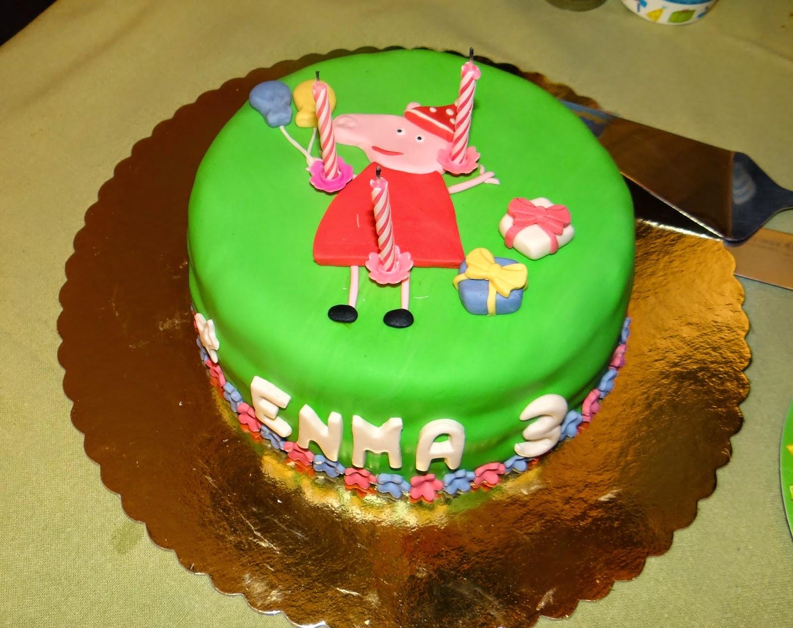 Tarta de 3º cumpleaños de Enma