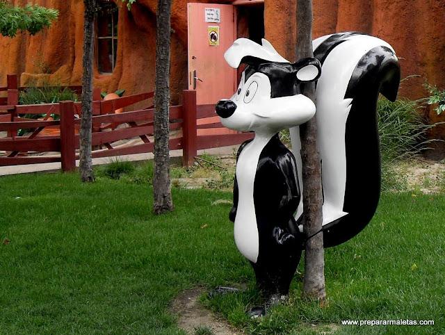 dibujos parque warner madrid