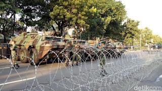 Polisi Dibantu TNI Amankan Aksi Bela Palestina
