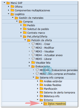 Usar transacción search_sap_menu - Consultoria-SAP