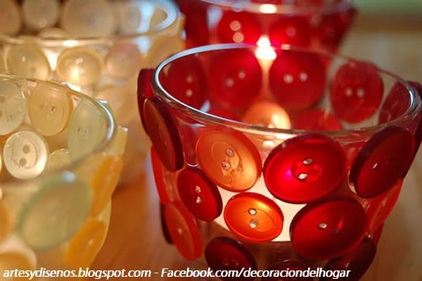 DECORAR AMBIENTES CON FRASCOS RECICLADOS by artesydisenos.blogspot.com