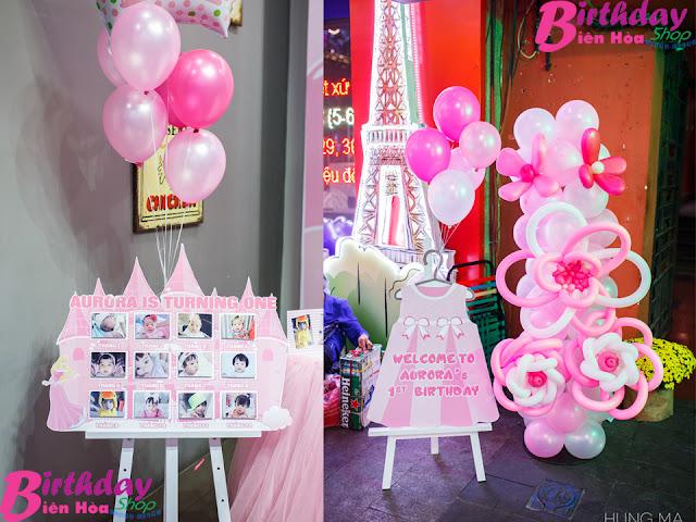 Trụ bóng sinh nhật ở Biên Hòa