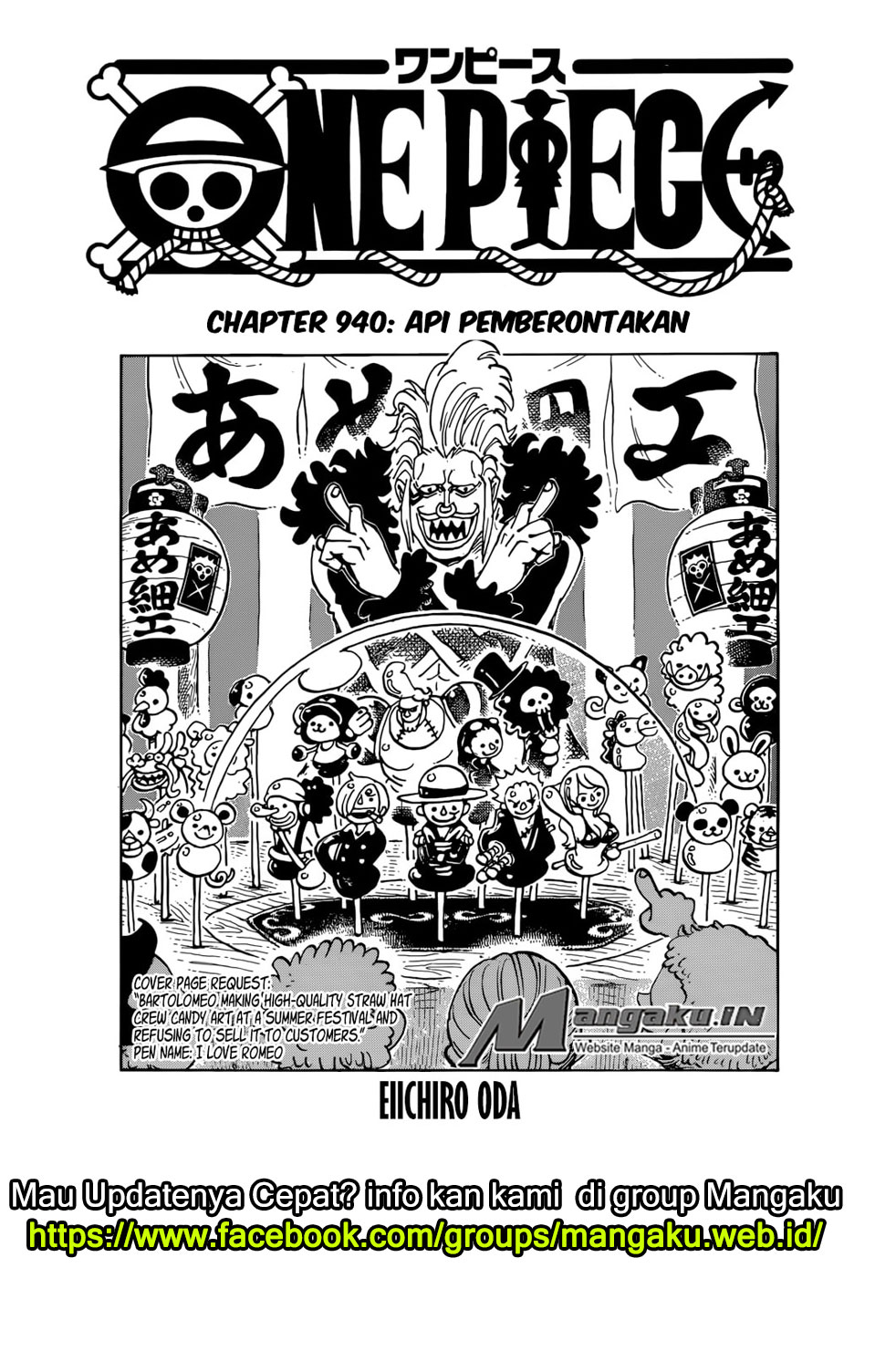 One piece chapter 940 bahasa indonesia