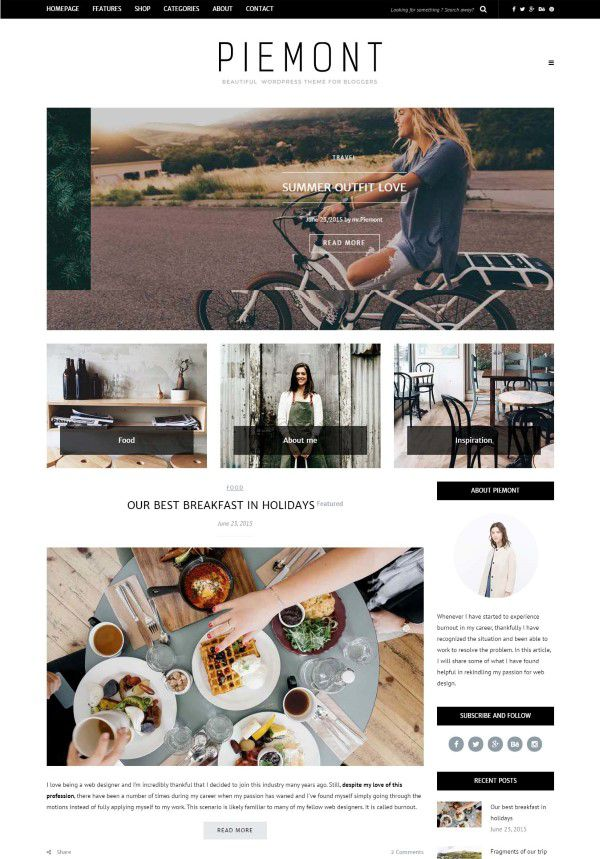 Piemont theme for wordpress