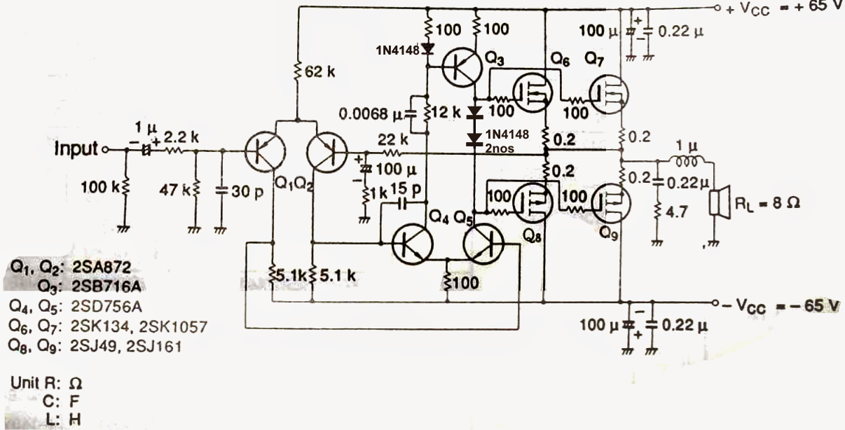 Scematic Diagram: 5200 1943 Mosfet 200 200 Watt Ample Ckt