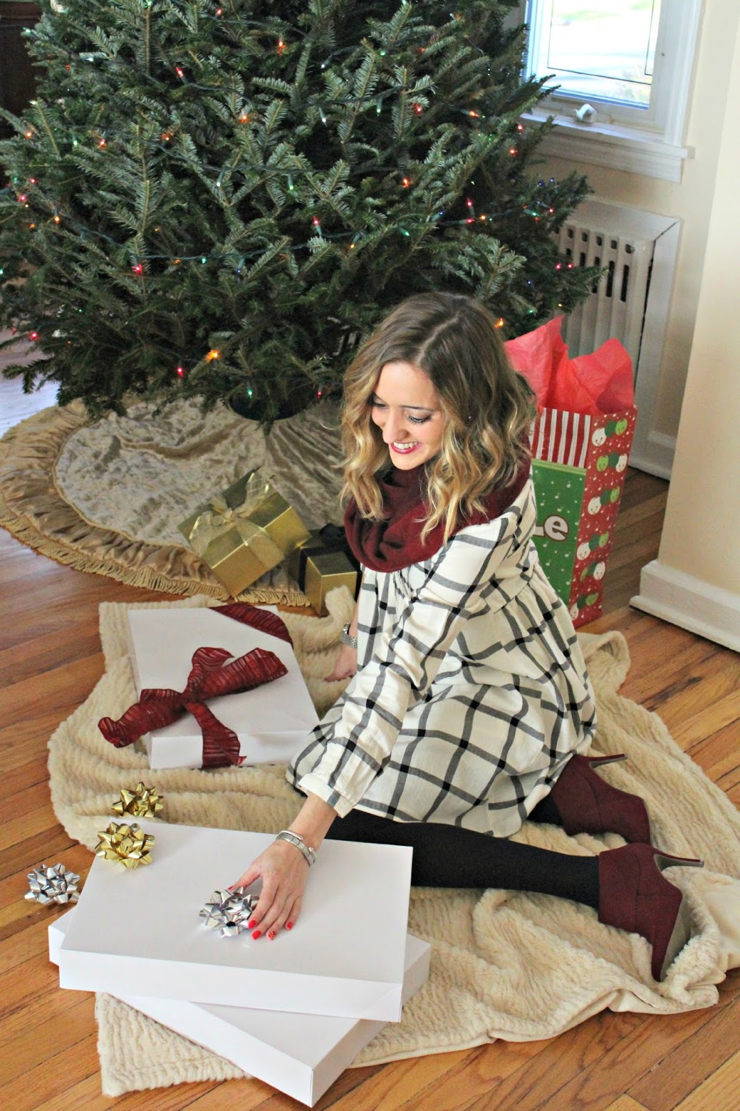 cozy old navy holiday outfit