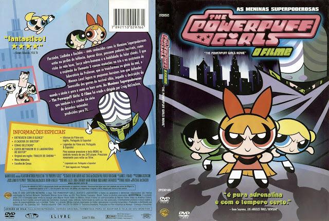 Capa DVD AS MENINAS SUPERPODEROSAS O FILME