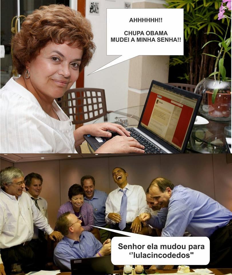 Dilma perseguida pelo Obama