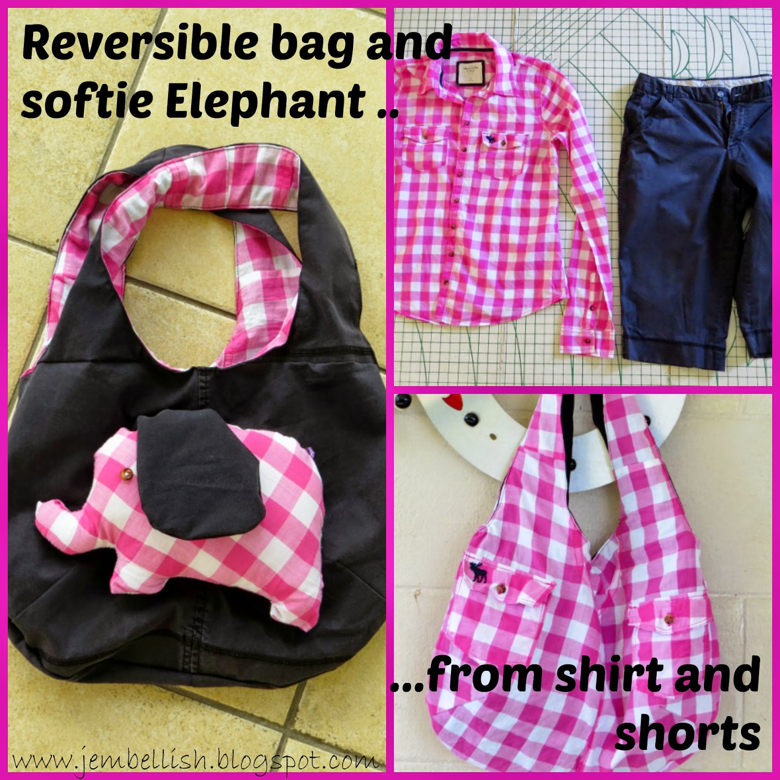 Bag and Elephant from shorts and shirt