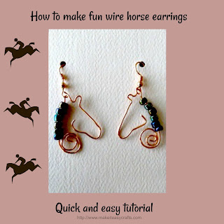 wire horse silhouette earrings