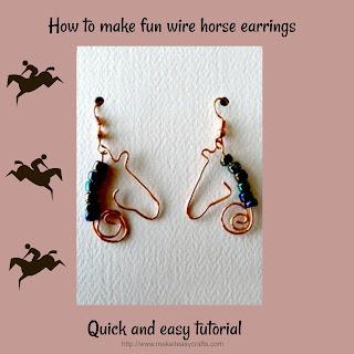 wire horse silhouette earrings