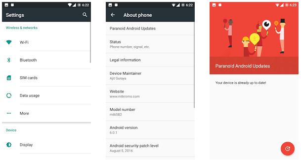 [MTK6582] Paranoid Android ROM For All Mediatek