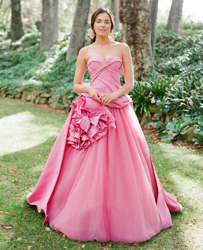 20 Gaun Pengantin Warna Pink Agar Cantik Dan Menawan Meenikah Com