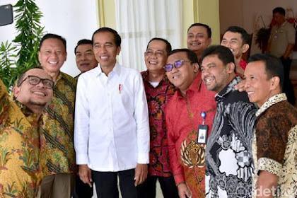Jokowi Terima Pimpinan Serikat Buruh di Istana Bogor, Said Iqbal Hadir
