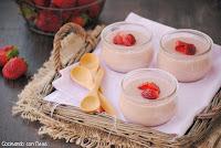 Natillas de fresa