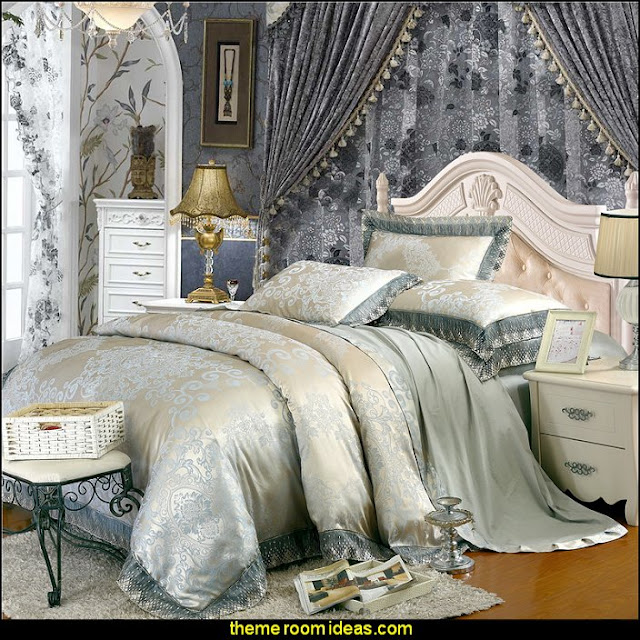 Jacquard Luxury Bedding  Marie Antoinette Style theme decorating ideas