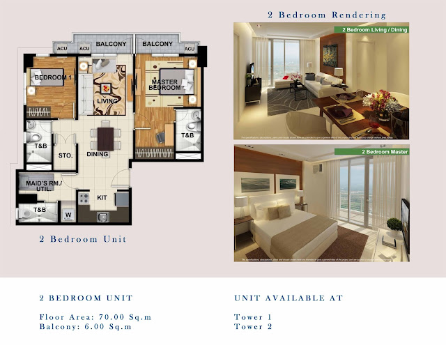 One Lakeshore Drive 2 Bedroom Unit