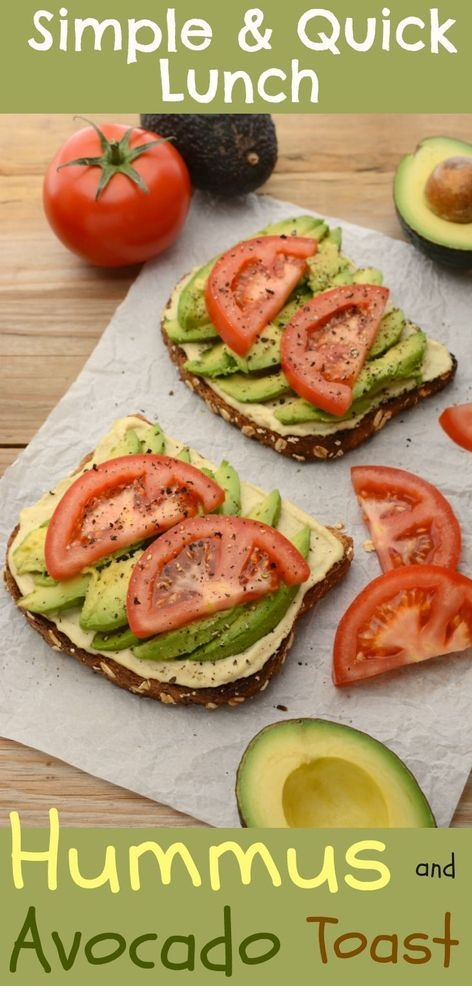 Hummus And Avocado Toast