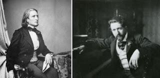 Liszt e Busoni in due immagini affiancate