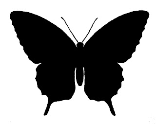 butterfly image silhouette digital download