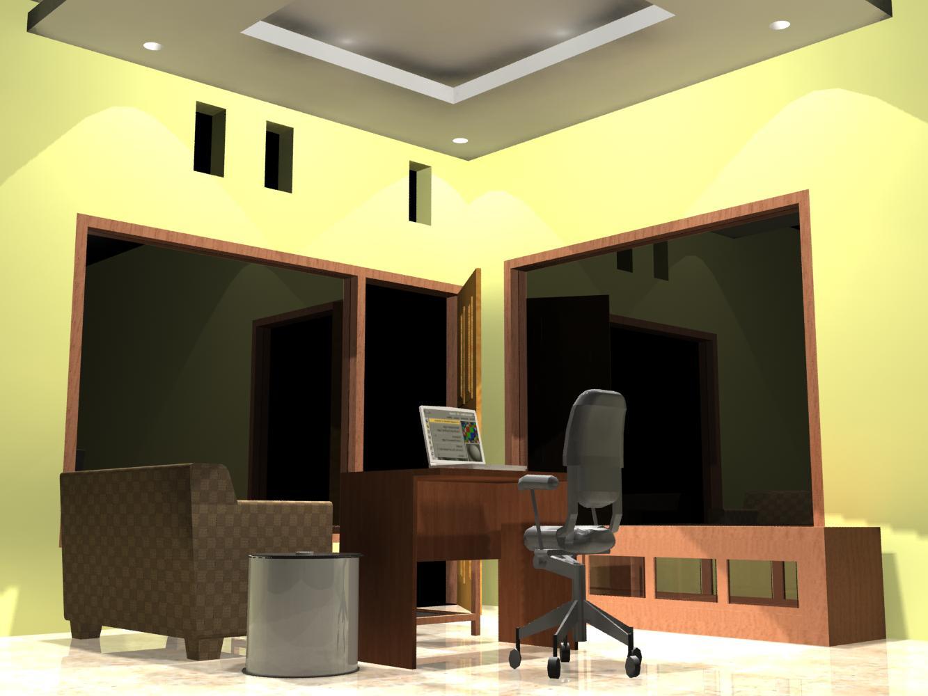 Ruangan Bos Sederhana Dan Nyaman Teknik Gambar Bangunan