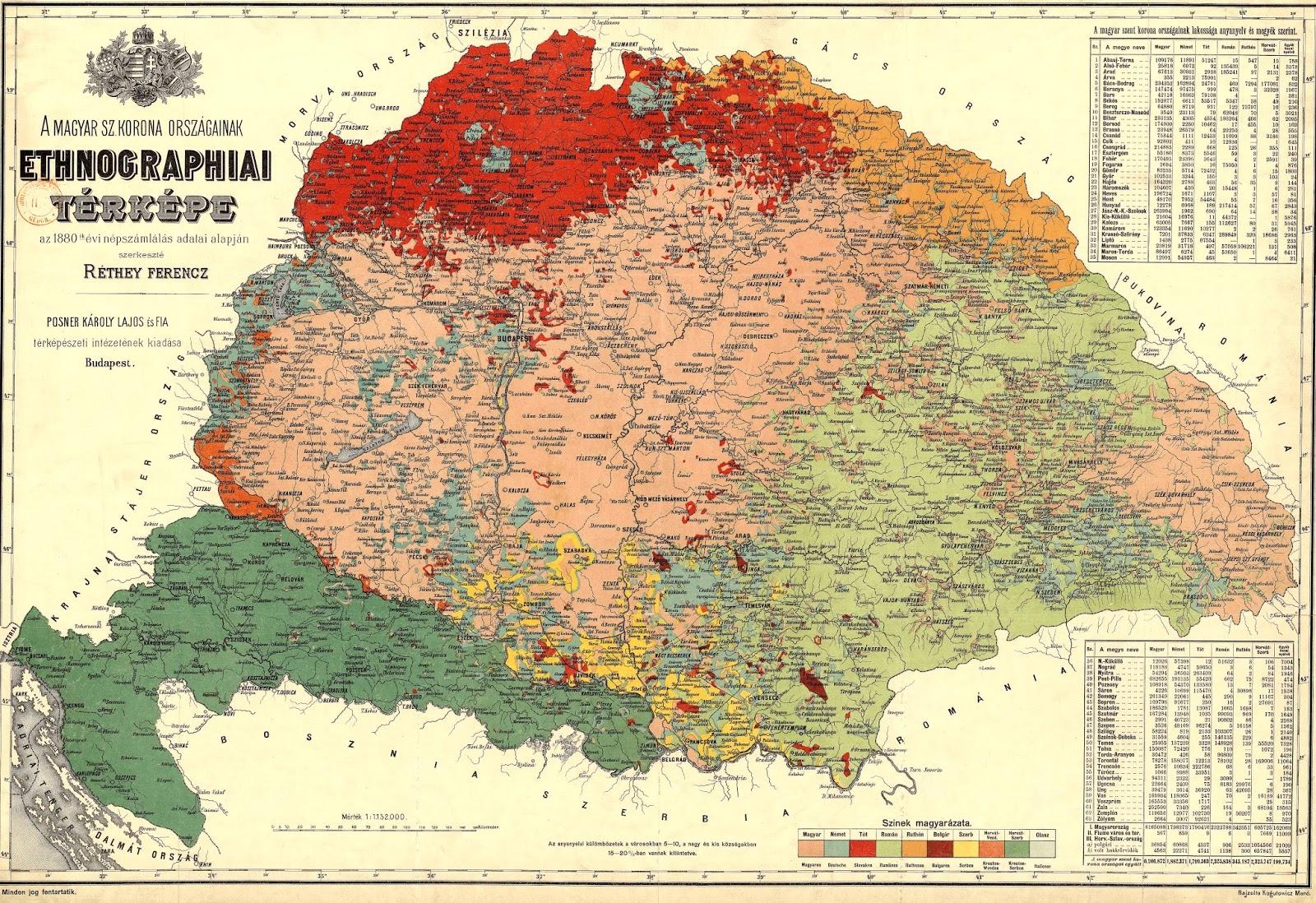 Magyarország 1864 Térkép