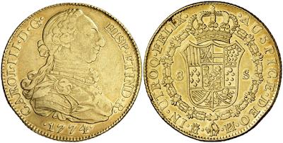 Monedas de oro españolas