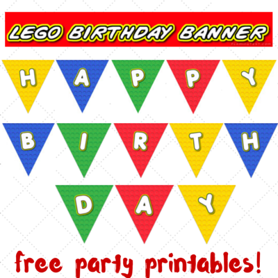 photo about Lego Party Printable called Lego occasion printables - portion 2 - birthday banner Trying to keep it