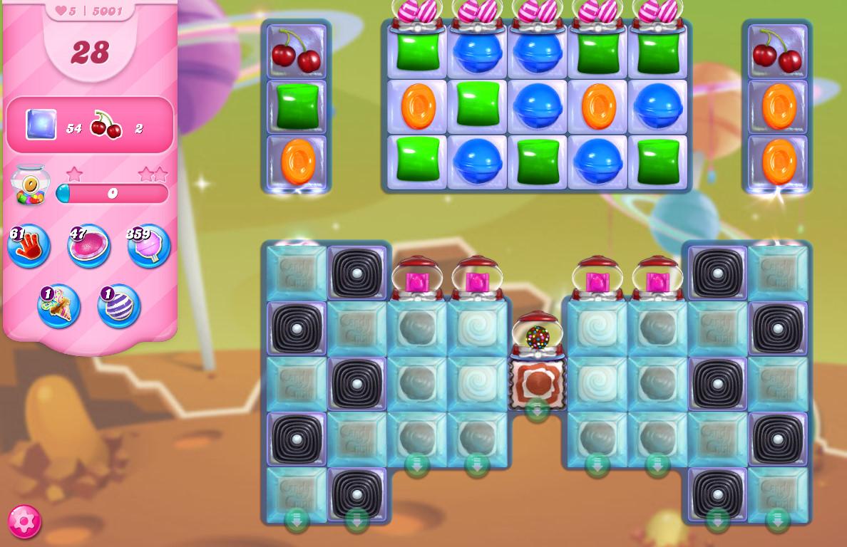 Candy Crush Saga level 5001