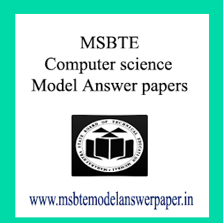 **(Semester 3) MSBTE Computer science Model Answer papers
