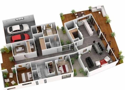 denah rumah sederhana tapi mewah