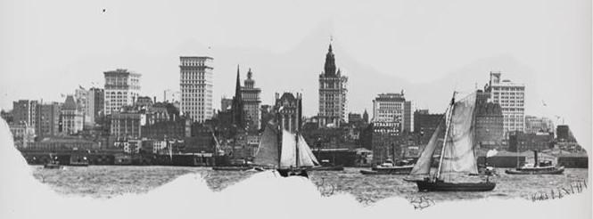 new york history geschichte manhattan skyline 1900. Black Bedroom Furniture Sets. Home Design Ideas