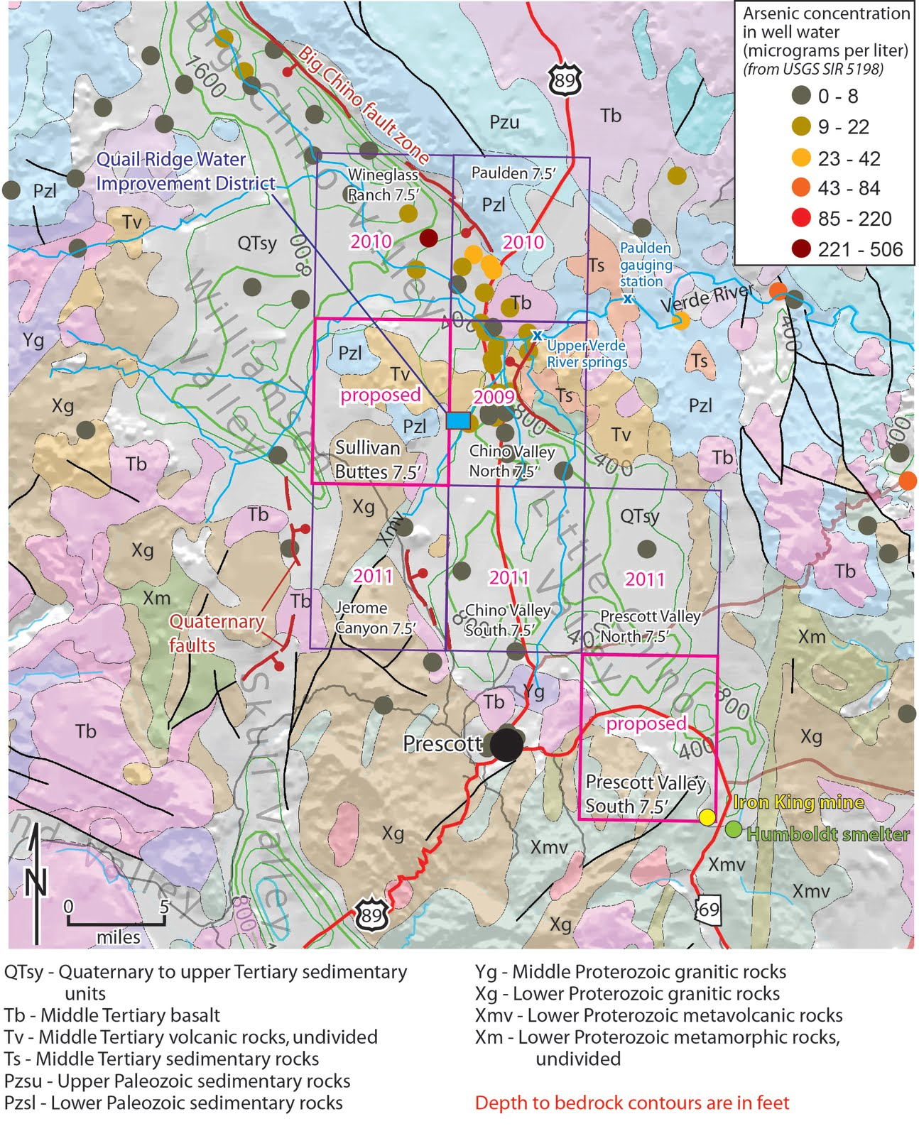 Map Of Arizona Prescott.Arizona Geology Why We Map 2 Prescott Chino Valleys