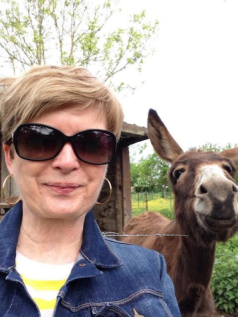 Cute donkey and me, near Verdun, France, 2015