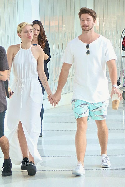 Miley Cyrus and Patrick Schwarzenegger paparazzi photo