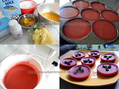 Cara Membuat Kue Lumpur Kentang Susu Red Velvet