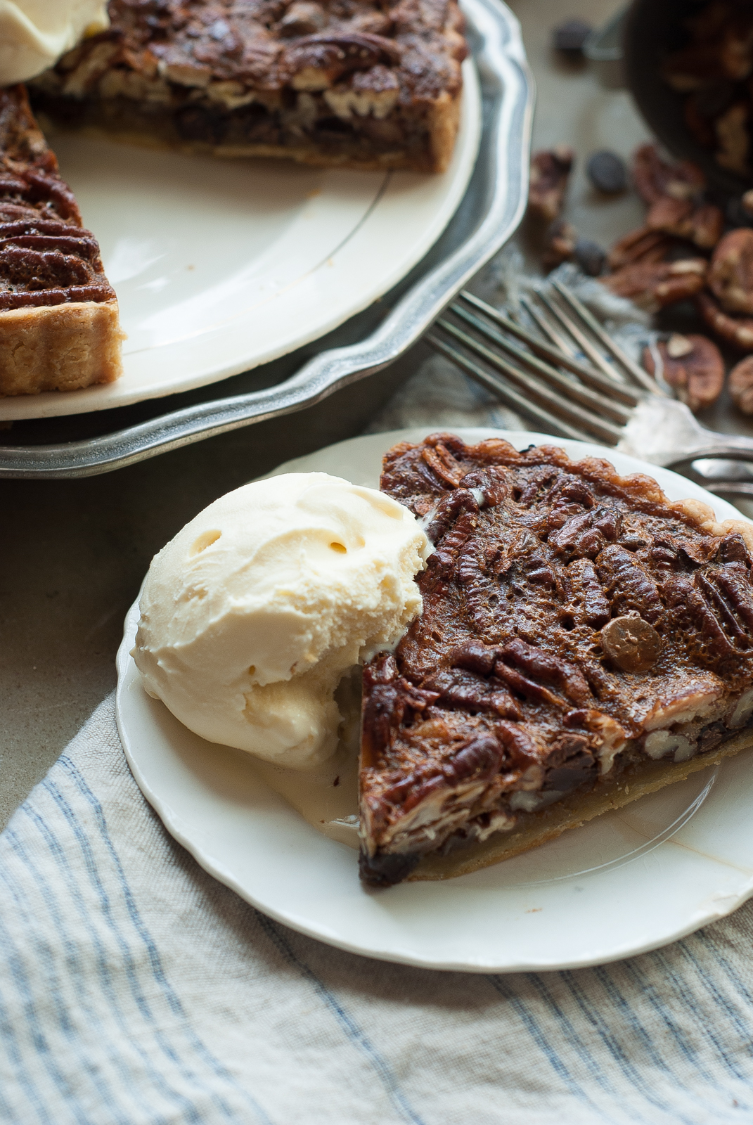 Pecan Chocolate Tart - Simply So Good