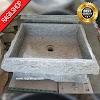 Wastafel marmer tulungagung kotak pahat asli batu alam 40 x 45cm