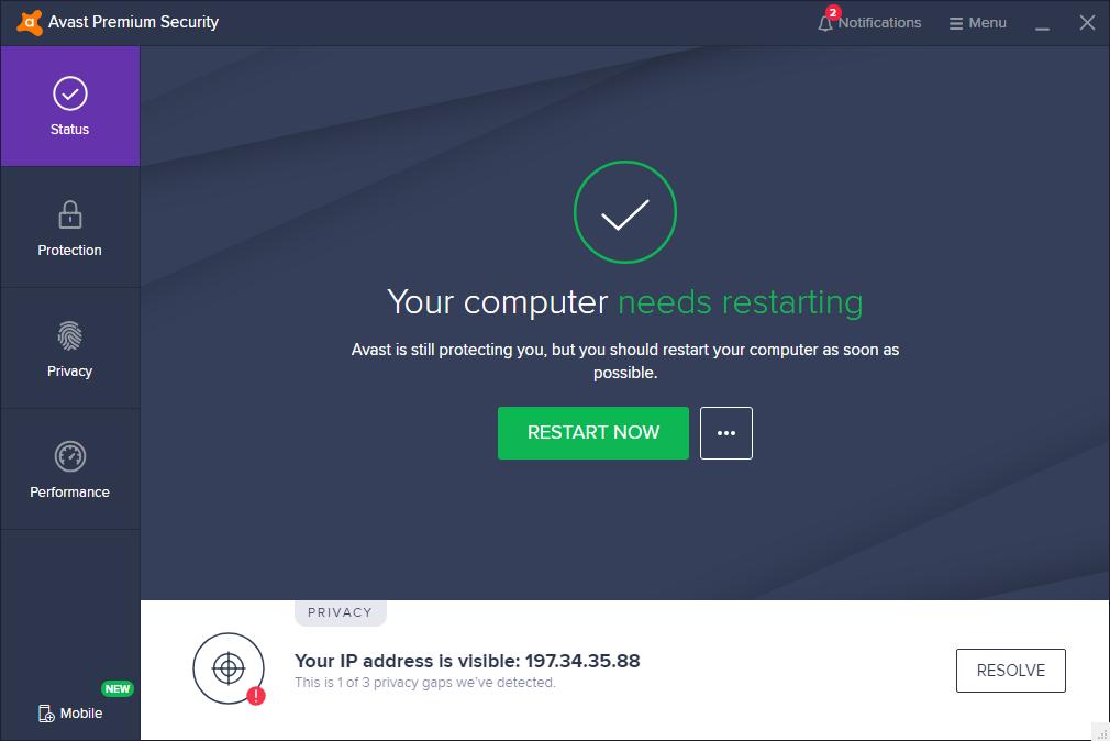 Avast Antivirus 2020 v20.1.2397