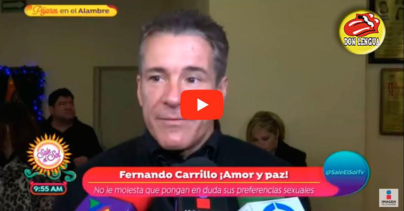 Fernando Carrillo confirmó en vivo que es el Rey de la comunidad Gay con Orgullo