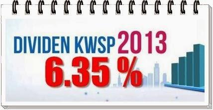 Dividen 6.35 Peratus Terhadap Caruman KWSP 2013!