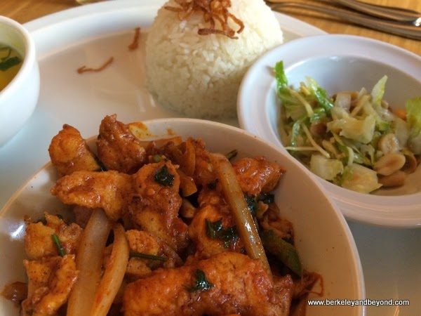 chicken kebat at Rangoon Super Stars in Berkeley, California
