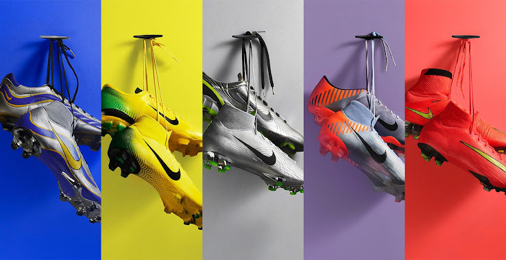 san francisco d85c6 3792e Nike 1998, 2002, 2006, 2010 and 2014 Air Max 270 Mercurial ...