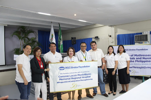 Chix & Tell: Uratex PH extends gift of comfort to Corazon Locsin Montelibano Memorial Regional Hospital through #Project50