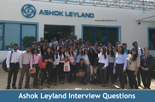 Ashok Leyland Interview Questions