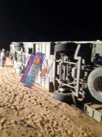 بالاسماء : المصابين والشهداء في حادث انقلاب حافلة معتمرين فلسطينين
