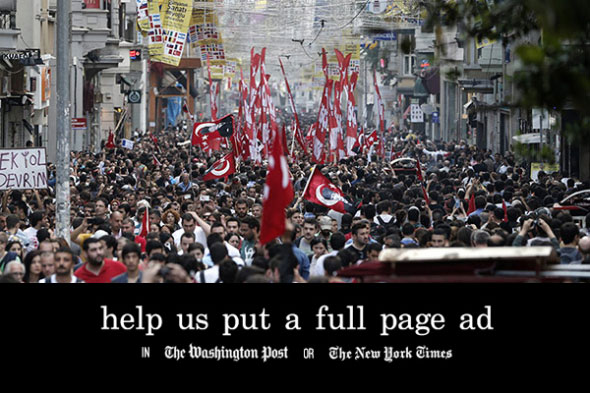 Occupy gezi full page ad